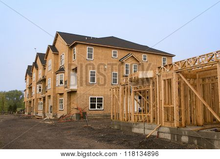Housing Under Construction In Various Stages Of Development
