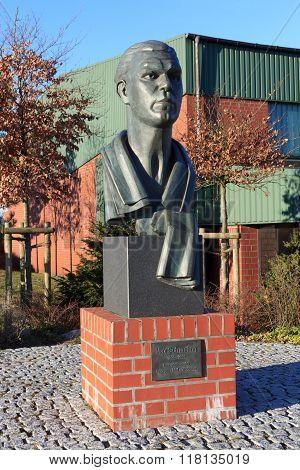 Boxer Max Schmeling Memorial Bust In Hollenstedt