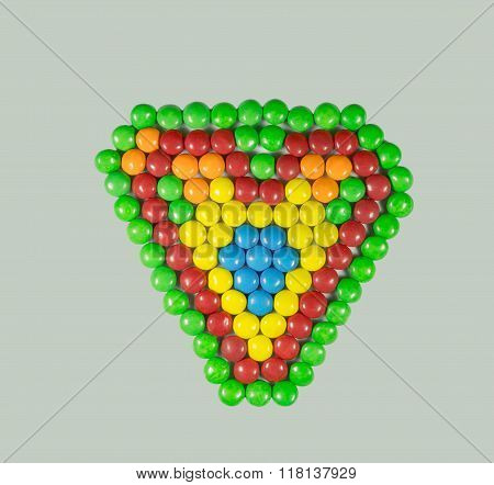 Heart Of The Small Colored Sweets