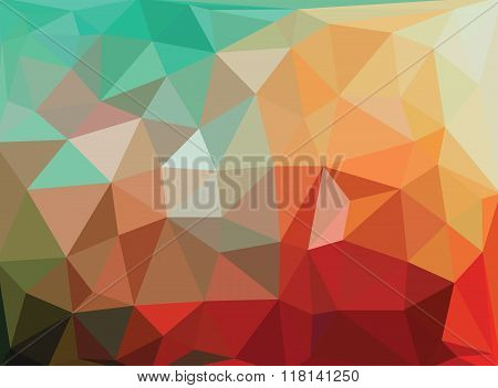 Abstract Geometric Background With Shining