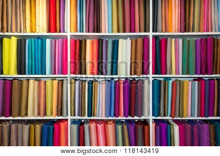 Selection Of Colorful Fabrics