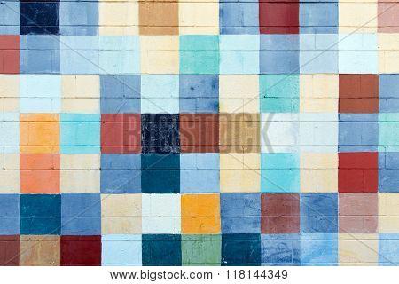 Painted color squares