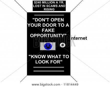 Concepto de estafa de Internet