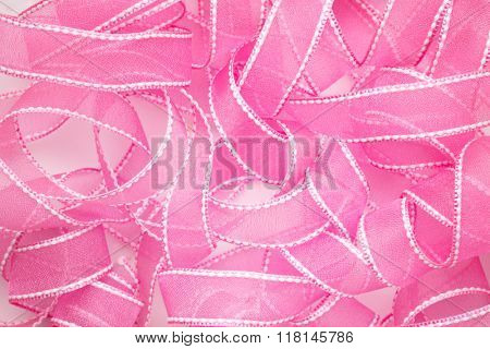 Curly pink satin,satin background