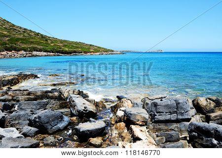 The Beach On Uninhabited Island, Crete, Greece