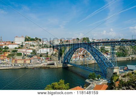 Dom Luis bridge in Porto, Portugal