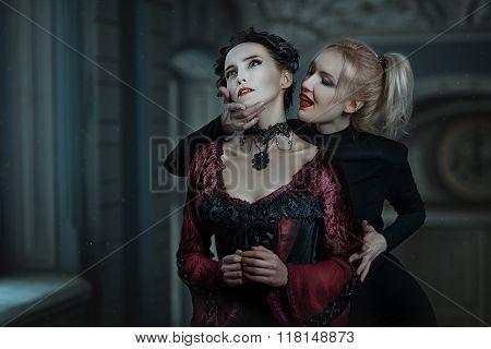 Woman Vampire Bites.