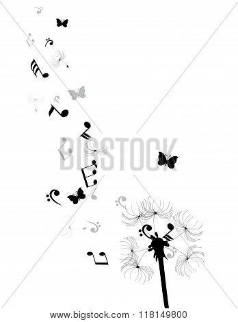 Vector Dandelion Silhouette