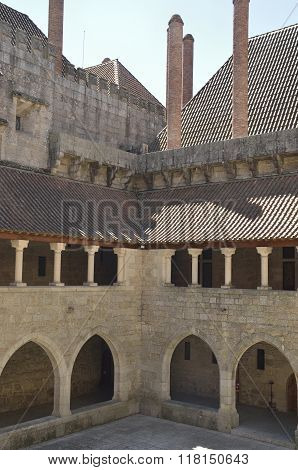 Corner Inner Patio Of  The Palace Of The Dukes Of Braganza