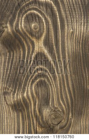 Close Up Of An Old Wooden Plank