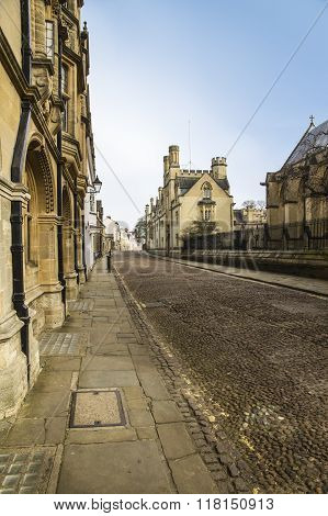 Cobbled Street, Oxford,england