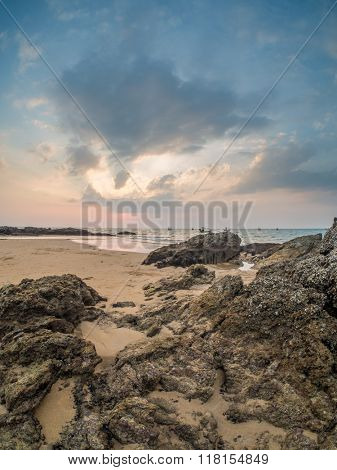 Sunset over Khao Lak beach Thailand