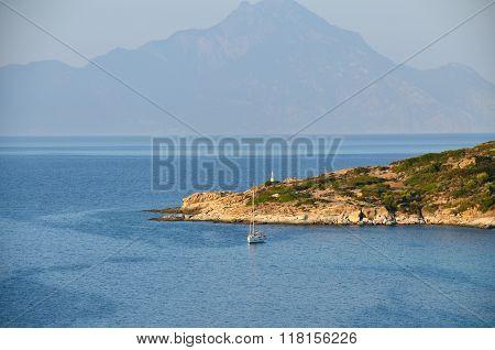 Athos Mountain In Greece