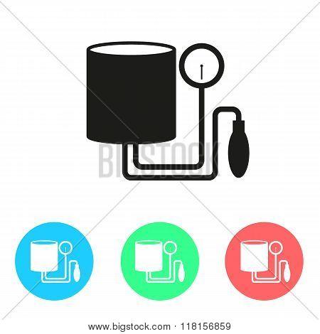 Tonometer Icon. Simple Flat Metro Design Style. Outline Icon. Flat Design Style. Colored Icon.