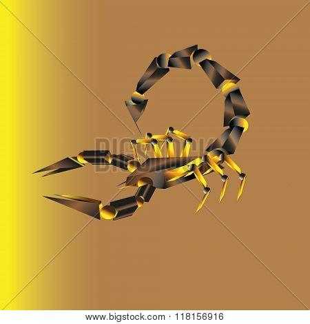 Battle brown scorpion