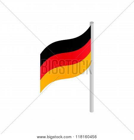 Germany flag isometric 3d icon