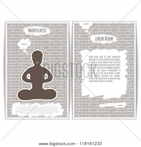 Mindfulness is in a yoga lotus pose.