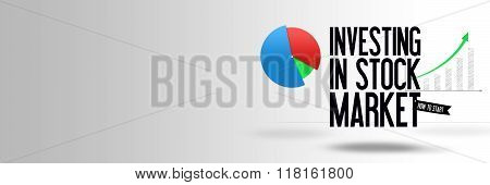 Investing In Stock Market - Copy Space - Website - Template - Banner Illustration - Business - Finan