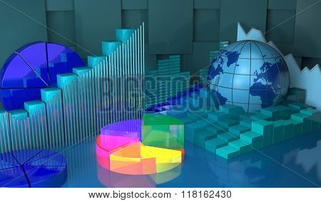 Progress In Global,business Abstract Background.