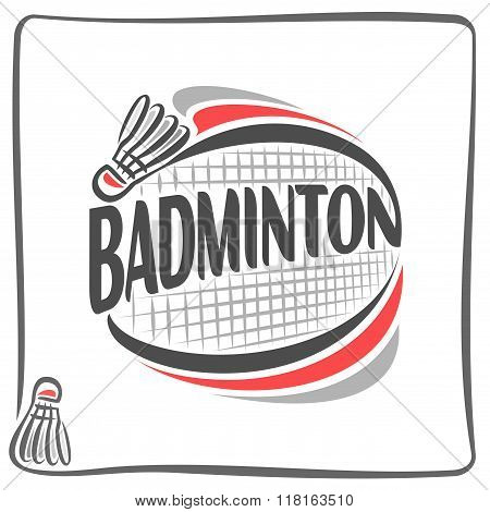 Abstract image on the subject of badminton