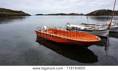 Fisherman Boat By The Lakeside