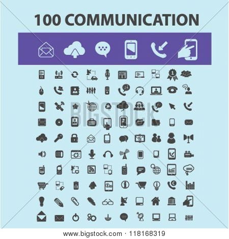 Communication icons, connect, talking, business communication, communication concept, communication, connection, technology, mobile icons