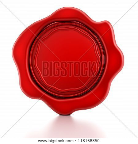 Blank Red Wax Seal