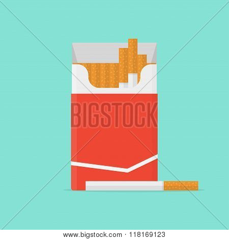 Cigarette Pack Vector Illustration