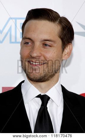 Tobey Maguire at the 37th Annual AFI LIfetime Achievement Awards held at the Sony Pictures Studios, California, United States on June 11, 2009.