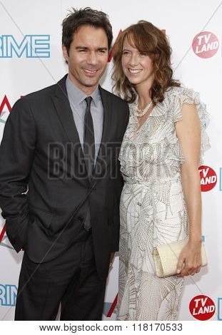 Eric McCormack and Janet Holden at the 37th Annual AFI LIfetime Achievement Awards held at the Sony Pictures Studios, California, United States on June 11, 2009.