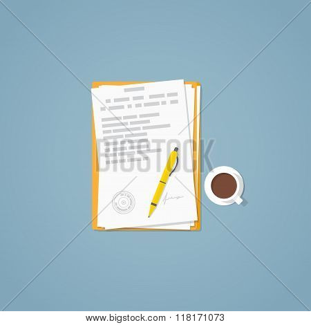 Flat Paper Document