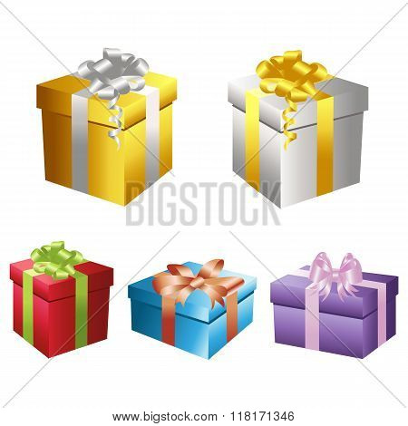 Set of vector gift boxes 2
