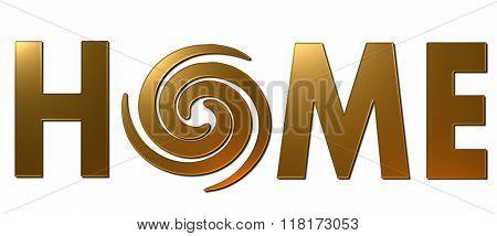 Home Swirl (Gold)