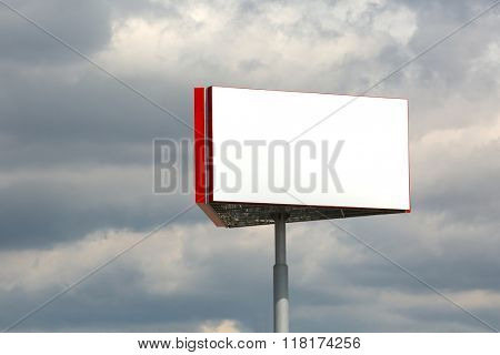 Blank Billboard Column