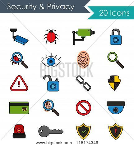 Security and privacy icons
