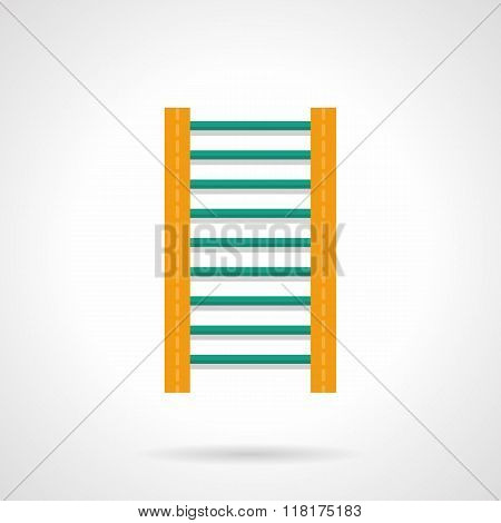 Wall bars flat color vector icon