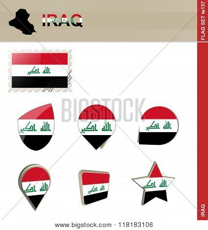 Iraq Flag Set, Flag Set #137