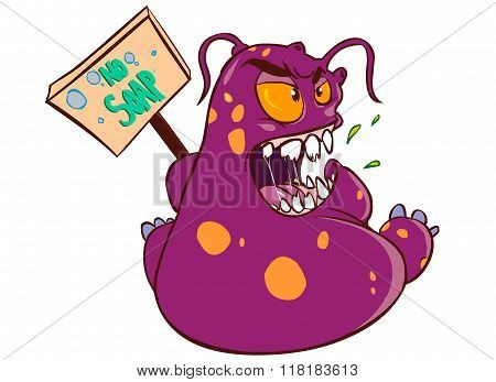 White Background Vector Illustration Of A Germ