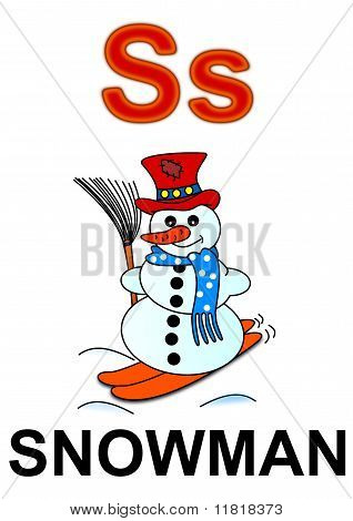 """Letter """"S"""" snowman"""