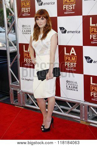 Lorene Scafaria at the 2012 Los Angeles Film Festival premiere of