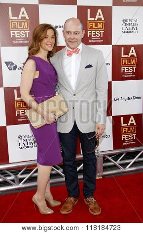Rob Corddry and Sandra Corddry at the 2012 LA Film Festival premiere of