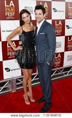 Laura Perloe and Chris Mann at the 2012 LA Film Festival premiere of