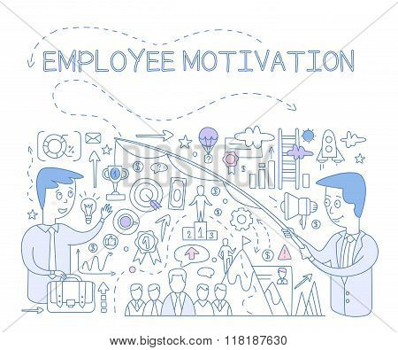 Employee Motivation Concept. Vector Infographic