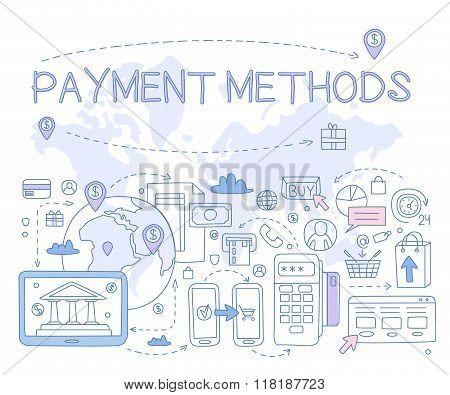 Payment Methods Infographics. Vector Illustration