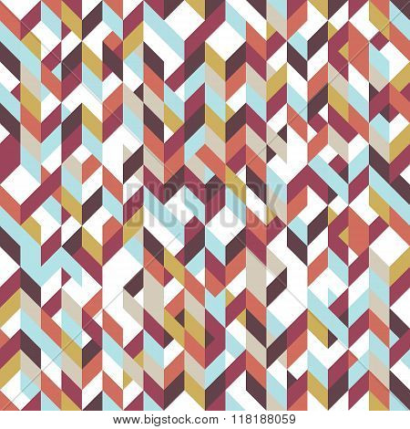 Patchwork pattern bohemian style with geometric polygonal retro decorative ornaments.