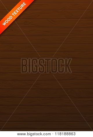 Wood Vector Texture Natural Planks. Boards with knots and veins