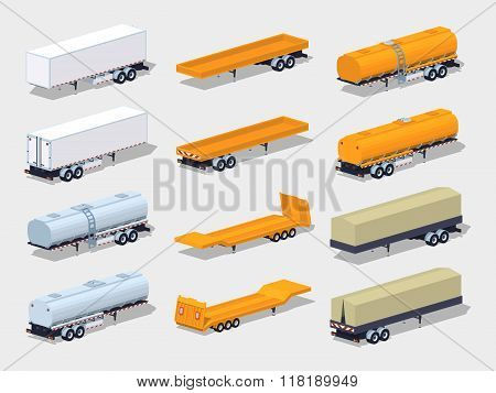 Collection of semitrailers