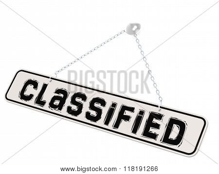 Classified Banner On White Background