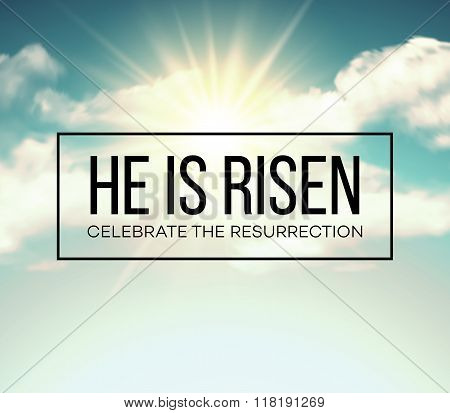 He is risen. Easter background. Vector illustration