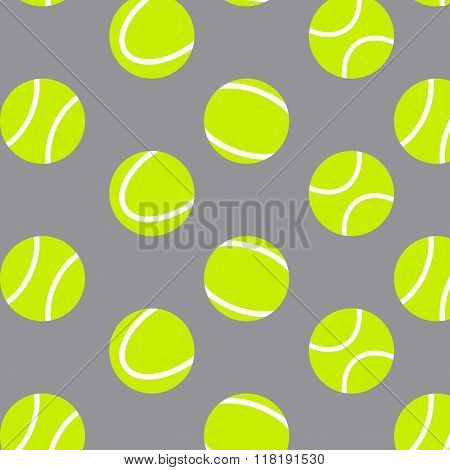 Tennis Ball Seamless Pattern Background